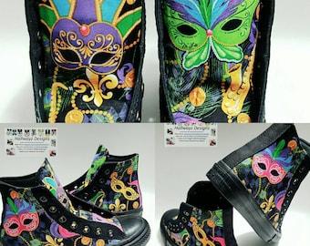Custom Mardi Gras Converse, New Orleans shoes