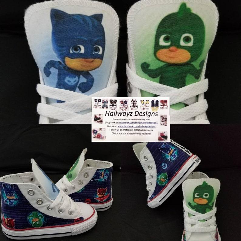 97cd5fde93199d Custom Converse PJ masks shoes children birthday sneaker