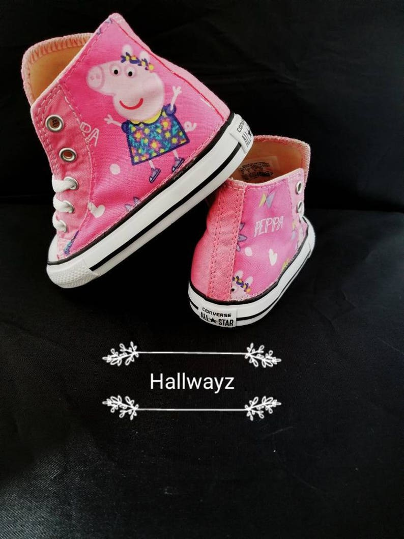 4490c571eb8 Converse shoe girls pink peppa pig birthday party Christmas