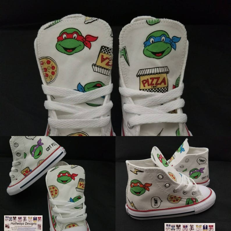 52e5ba62a70c White Tmnt shoes custom Converse Ninja Turtles party outfit