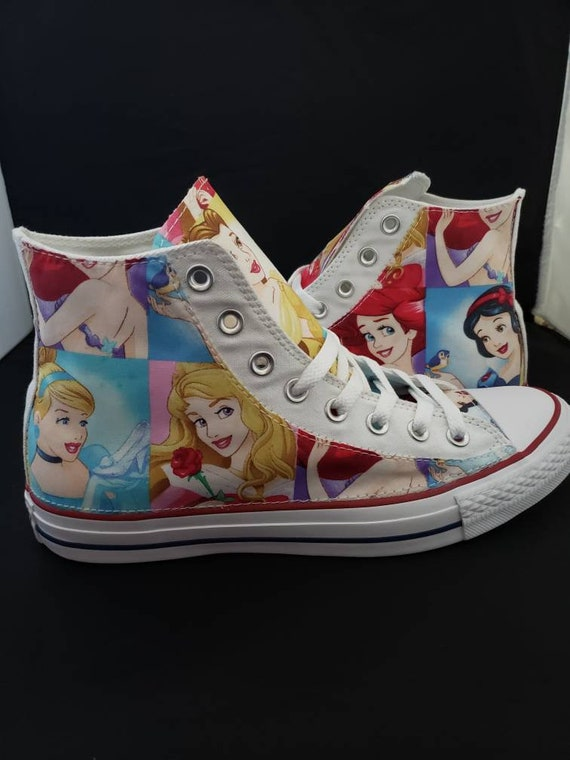 Disney Princesses Kids Custom Converse Shoes Character Personalised Childrens