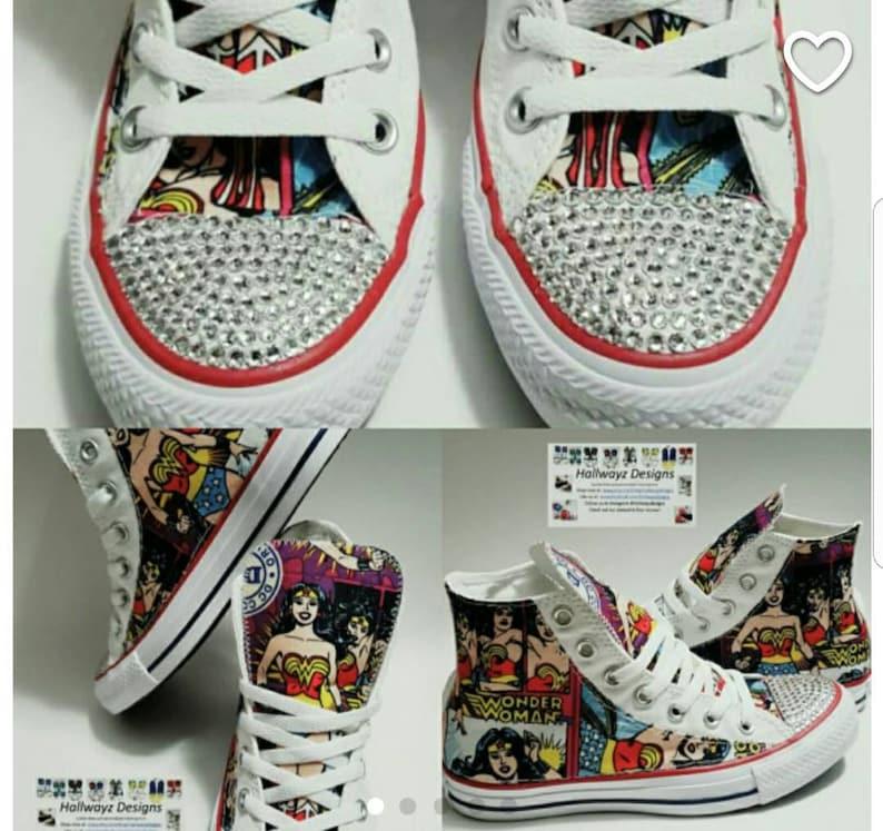 98eeb62f13b7 Wonder Woman Wonderwoman Birthday Superhero Converse shoes