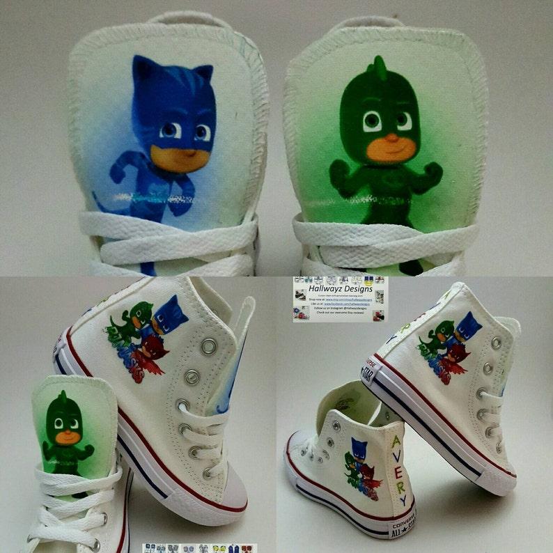 0526fcffcff3 PJ Masks pjm shoes Custom Converse Catboy Gekko Owelette
