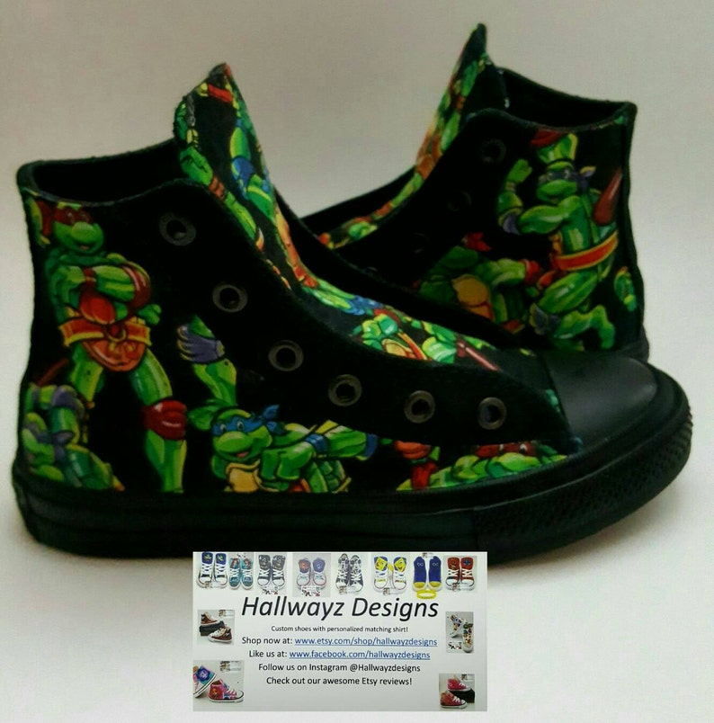 822dd5be8c9e Tmnt shoes custom Converse Ninja Turtles party outfit