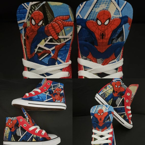 Custom Marvel Spider man Converse Shoes Superhero Spiderman