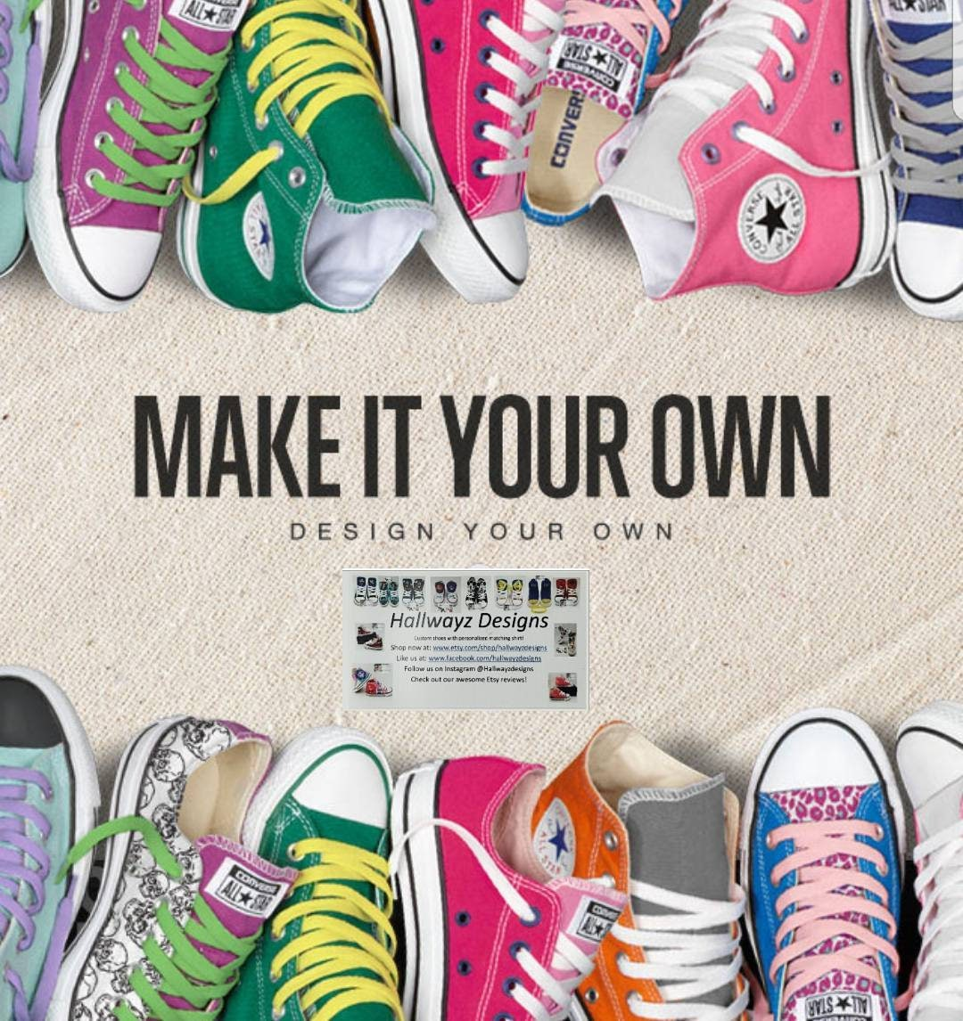 43b45586d1ec Design your own Converse shoes Add your favorite logo