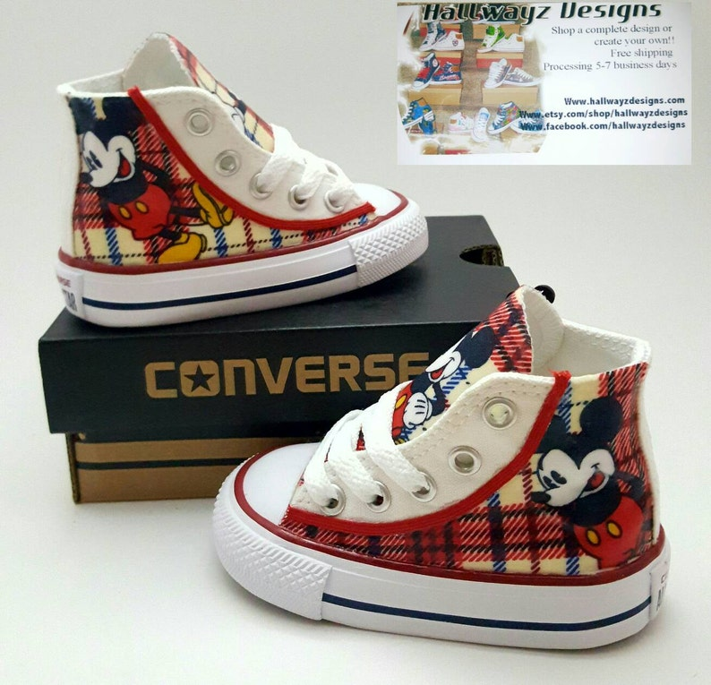 Disney Mickey Mouse Converse shoes children birthday shoes  1773e5b152d7