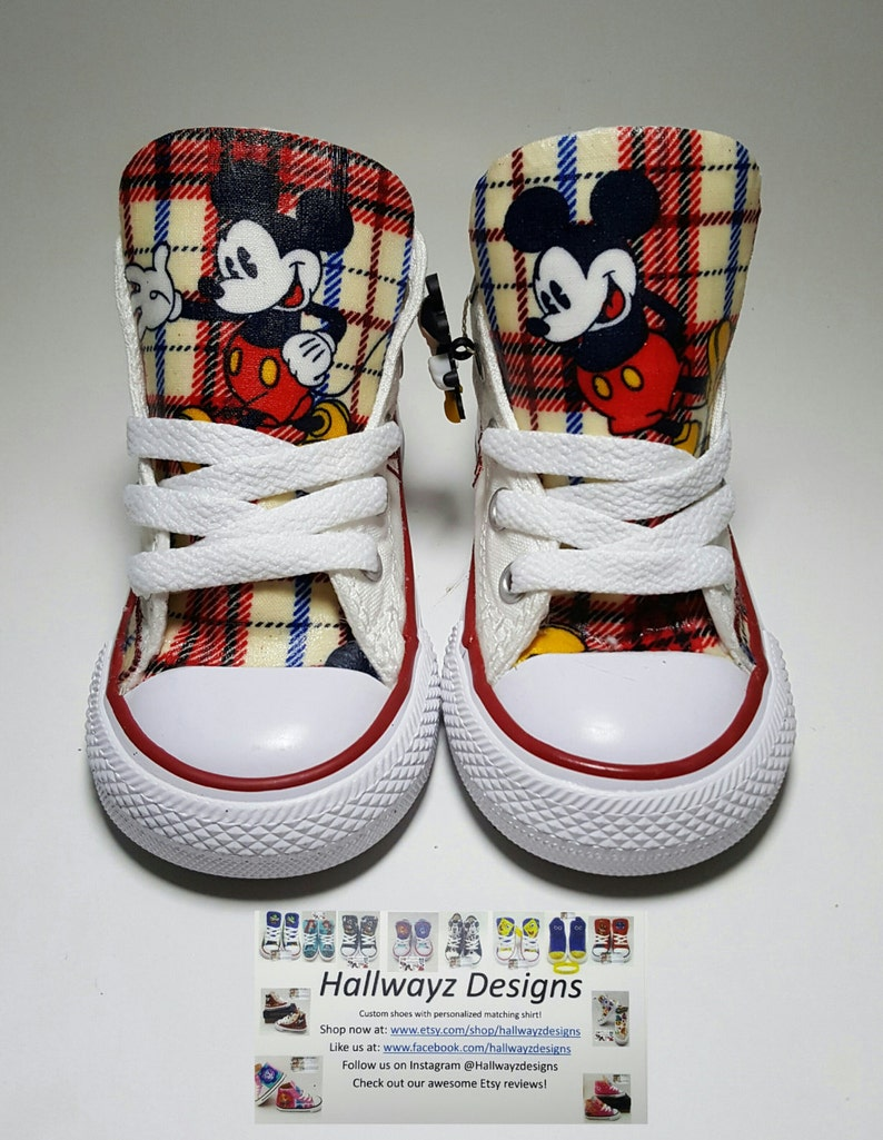 f30ed6d8138578 Disney Mickey Mouse Converse shoes children birthday shoes