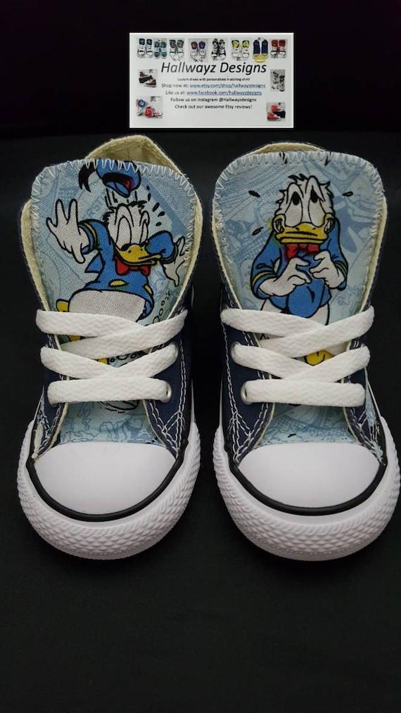 Disney, Disney shoes, Donald Duck, Custom Converse, blue chucks, Donald Duck theme birthday outfit, shirt sold separately