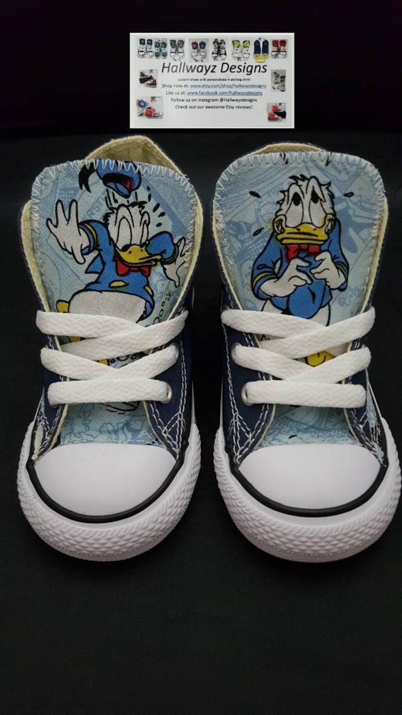 9cdb5f808e6a82 Disney Disney shoes Donald Duck Custom Converse blue