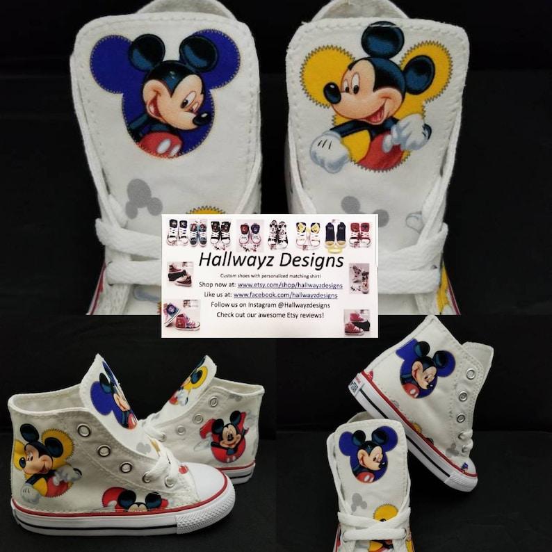 f1d191551937cf Disney party Mickey Mouse Converse shoes white chucks