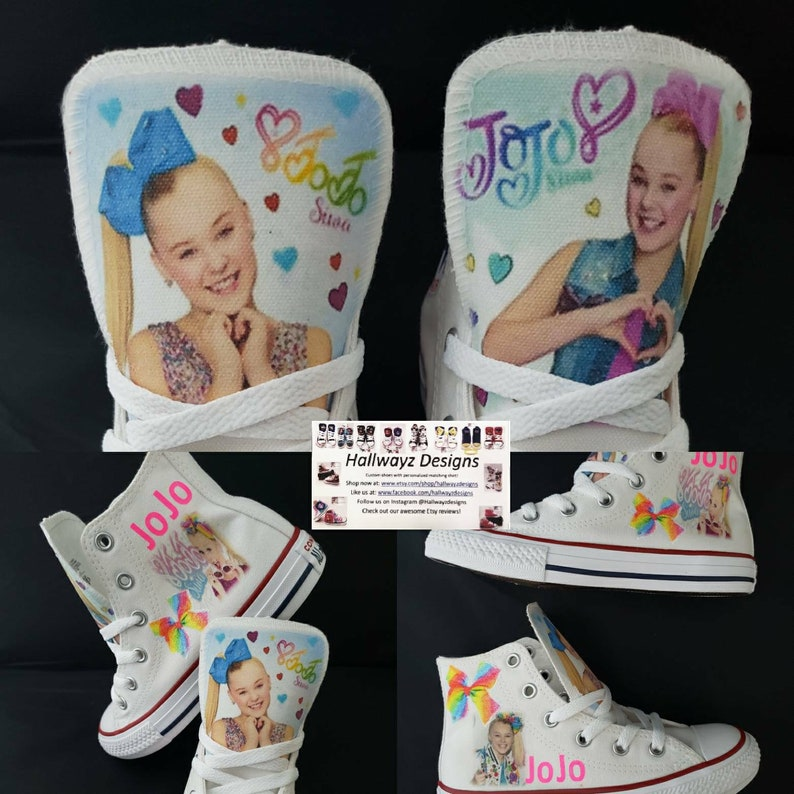 137e87ac230 Jojo Siwa Converse Shoes Girls Jojo Bows Sneakers by