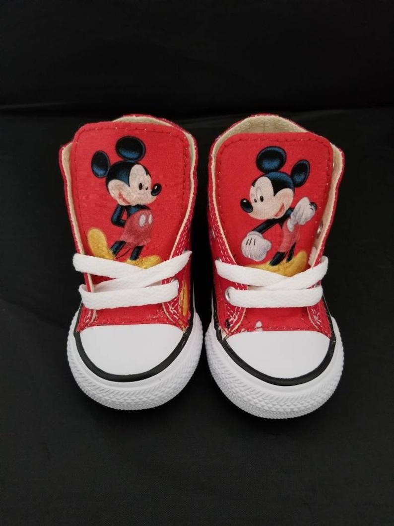 e74926336767aa Converse black shoes Disney Mickey Mouse adult gift chucks