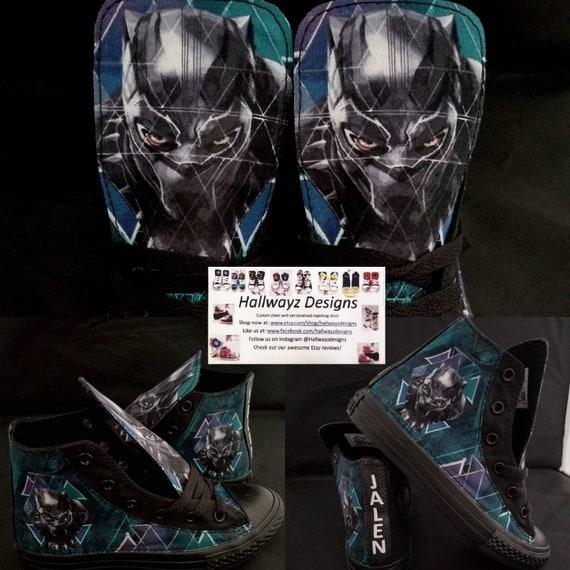 Converse schoenen, Black panther, marvel schoenen, wakanda, de partij van de verjaardag van de kinderen, superheld kicks, shirt apart verkocht door
