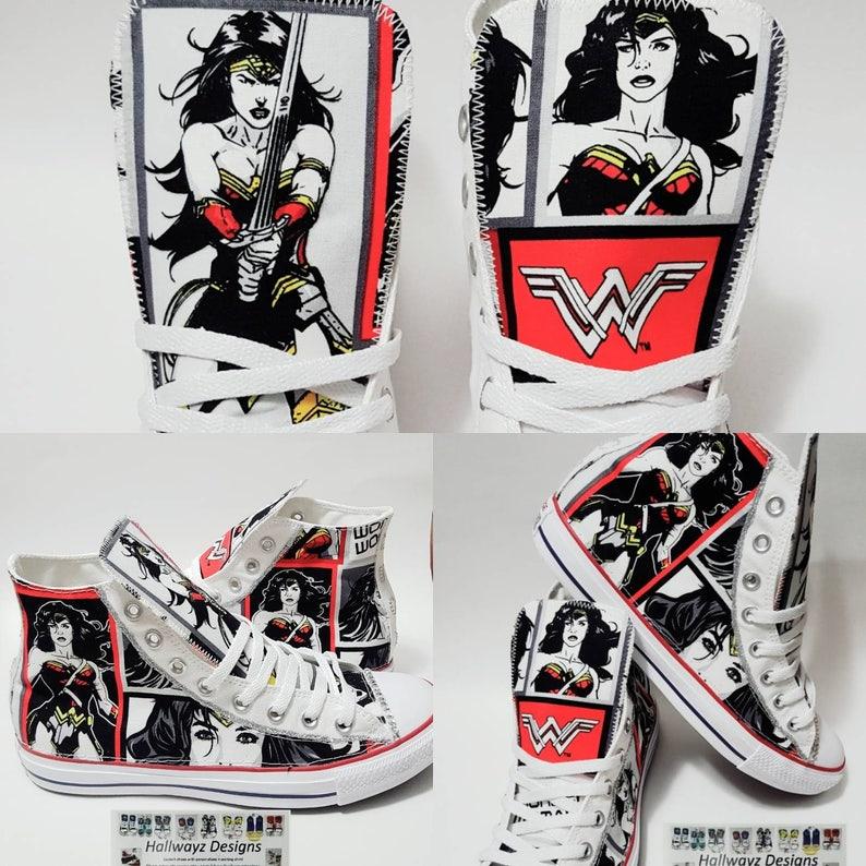 107d03c01b4b Wonder Woman wonderwoman Converse shoes superhero Chucks