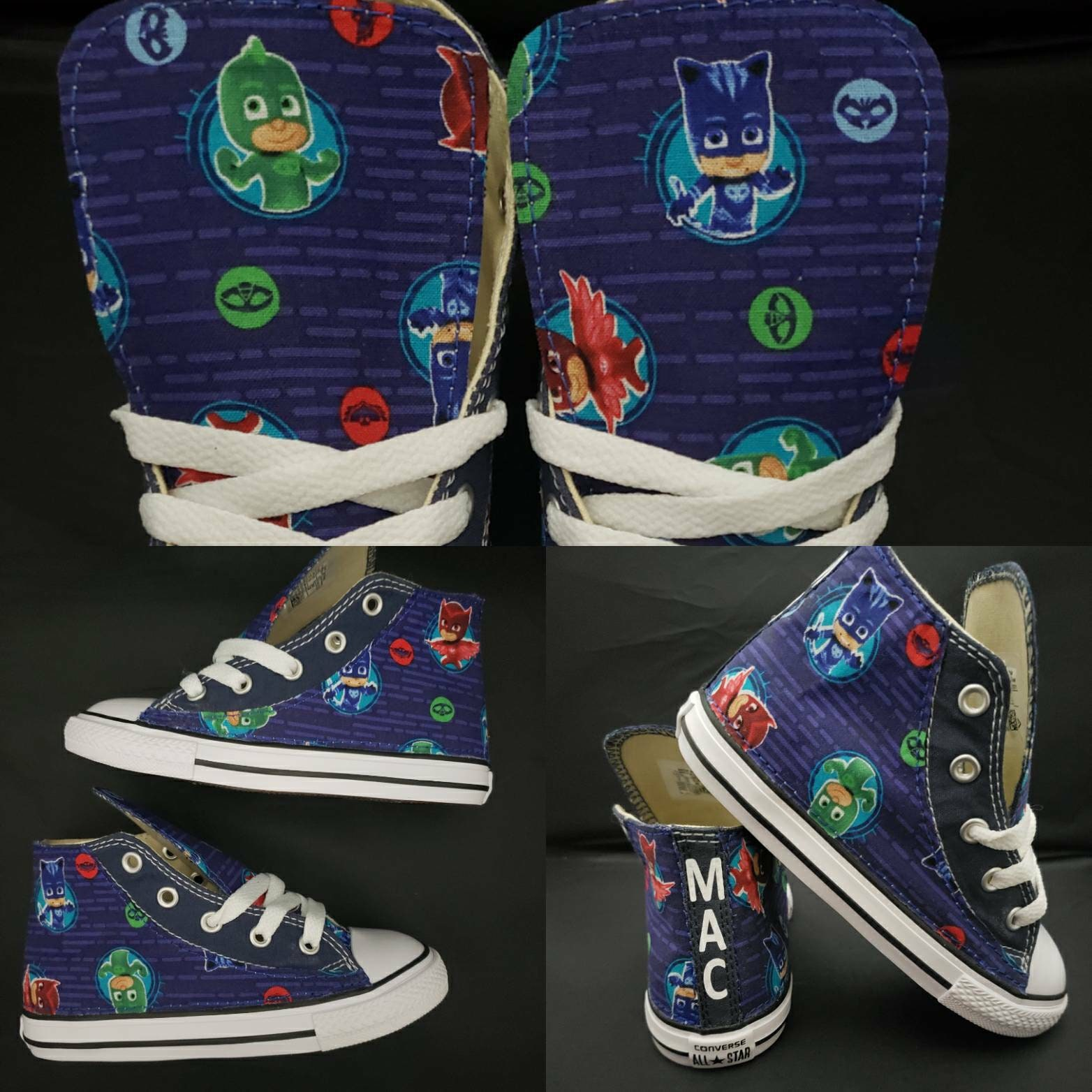Details about Converse all star Boys Shoes Size 3 M Blue Fabric Low Top