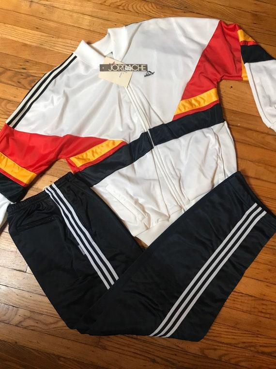 80s jordache tracksuit two piece warm up adidas tr