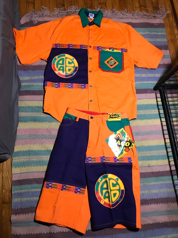 Two Piece Paco Top and Bottom Set 90s VIntage KEnt
