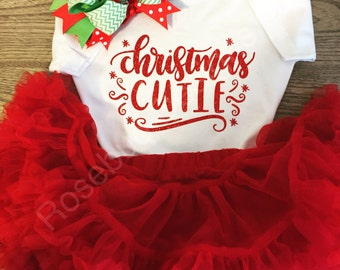 Girls Christmas Cutie Tshirt