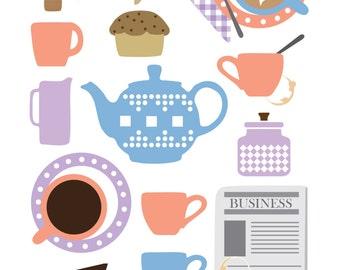 Coffee Art, Coffee Print, Kitchen Art