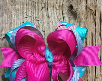 Handmade Stacked Boutique Style Hair Bow