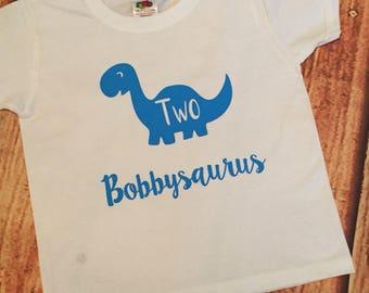 Personalised Dinosaur Birthday shirt