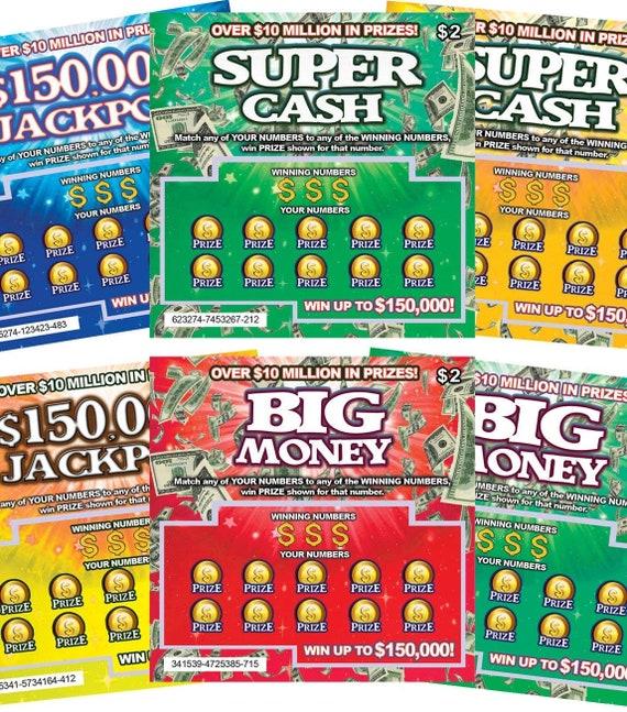 fake lottory tickets