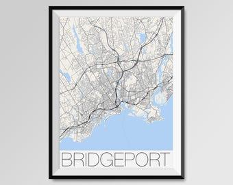 Map of bridgeport   Etsy