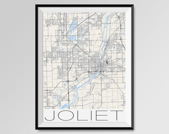 city map of joliet il