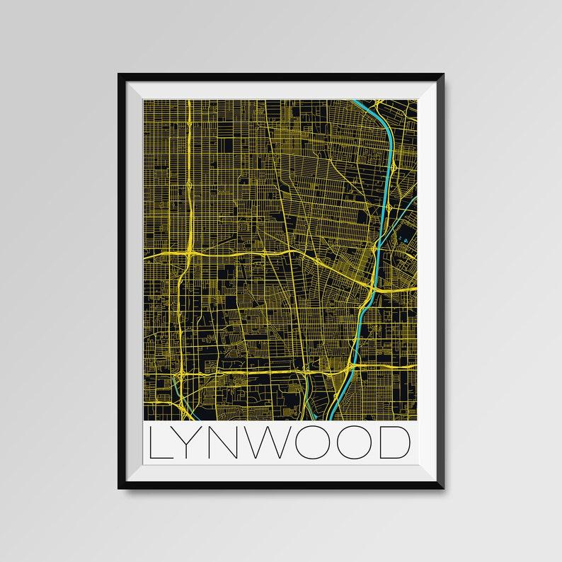 Lynwood gift Lynwood City Map Print Personalized California map Lynwood Wall Art Lynwood Map Poster Custom city LYNWOOD California Map