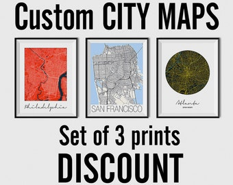 Set of 3 City Maps - Multiprint Discount