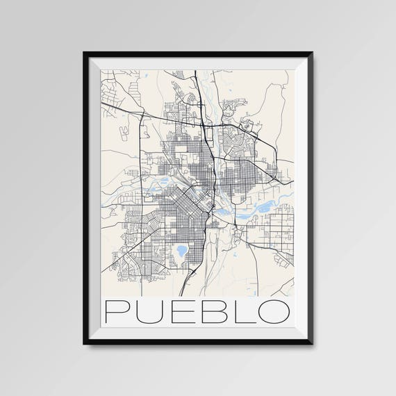 PUEBLO Colorado Map Pueblo City Map Print Pueblo Map Poster | Etsy
