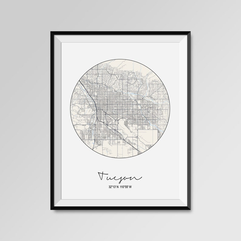 Tucson City Map Print, Circular Modern City Poster, COLORS - black on city of bisbee map, city of goodyear map, city of cheyenne map, city of wichita map, city of mesa map, city of indianapolis map, tucson city map street map, tucson city bus map, town of paradise valley map, university of tucson map, city of surprise map, new river az city limits map, arizona map, city of prescott map, city of benson map, city of flagstaff map, city of peoria map,