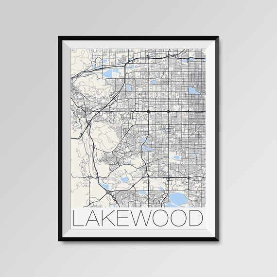 LAKEWOOD Colorado Map Lakewood City Map Print Lakewood Map | Etsy
