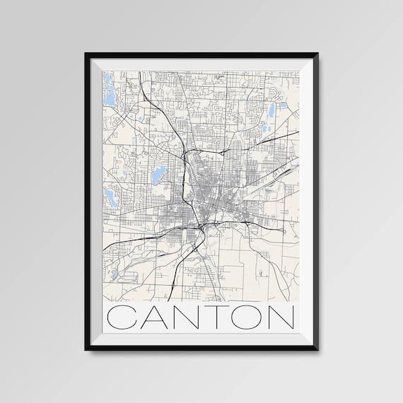 CANTON Ohio Map, Canton City Map Print, Canton Map Poster, Canton Wall on map of edgerton ohio, map of dublin ohio, map of wells township ohio, map of alger ohio, map of northeast ohio, map of akron ohio, map of larue ohio, detailed map of ohio, map of toledo ohio, map of parkman ohio, map of newbury ohio, map of berlin heights ohio, map of new york, map of nashville ohio, map of black river ohio, map of bowersville ohio, map of williamsfield ohio, map of new holland ohio, map of findlay ohio, map of rittman ohio,