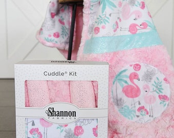 Lullaby FLAMAZING  MINKY KIT from Shannon Fabrics, Great for Baby or Toddler Girl, Baby Shower Gift, Newborn Minky Blanket