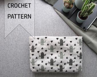 Cactus Crochet Pattern / Cactus Tapestry Crochet / Cactus Crochet Bag / Cacti Pattern / Tapestry Crochet Pattern / Wayuu / Crochet Bag