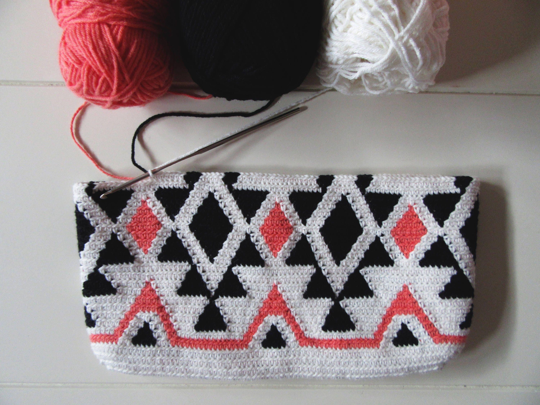 Ethnic Tapestry Crochet Bag / Tapestry Crochet Pattern / Crochet Bag ...