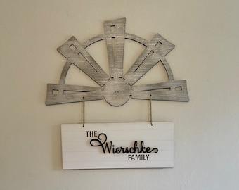 Personalized Windmill Door Hanger
