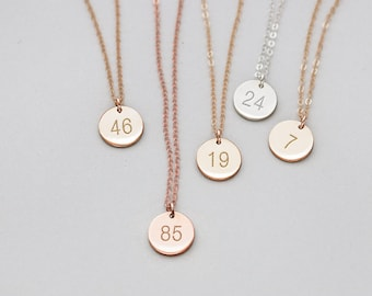 9fcecbba3 Number Necklace, Uniform Number, Squad Number, Jersey Number, Shirt Number,  Sweater Number, Lucky Number, Birthday Necklace, Milestone•NDV90
