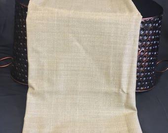 Gaberdine Knit Fabric, Light Olive Color, Faint Plaid Design, 1 Yard, 58 Wide, Fabric Remnants, Skirt Fabric, Vintage Fabric, Suit Fabric