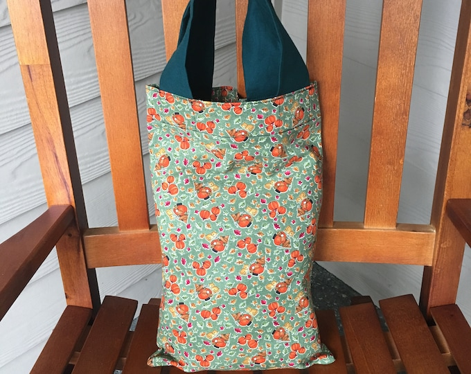 Featured listing image: Pumpkins Print Tote Trick-or-Treat Bag 9.5 x 15, Free Shipping in the USA