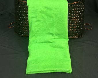 Neon Green Fabric, Jersey Knit Fabric, 1 Yard 19 Inches, 56 Wide, Fabric Remnants, Neon Fabric, Sweatshirt Fabric, Discount Fabric, Sewing