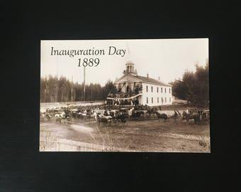 Inauguration Day Postcard from Olympia Washington, 1889 Photo Print, 1980's Postcard, Ships Free in USA