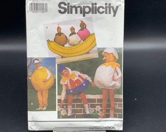 Pumpkin, baseball, tomato, baby chick, round costume pattern for Halloween costumes Simplicity 7415 Uncut 1991 size A S-L kids adults