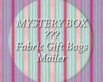 Mystery Box Mailer/ mystery gift box/ fabric gift bags/ sustainable bags/ reusable bags/ eco friendly