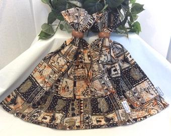 African Tribal Print, Kwanzaa Gift Bag, Travel Bag, Fabric Gift Bag, Cloth Gift Bag, 21.5 x 20.5, Upcycled Bag, Birthday Bag, Large Gift Bag