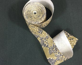 Snake Skin Design, Grosgrain Ribbon, Craft Ribbon, Sewing Supplies, Hair Bow Ribbon, 2.5 Wide, 8 Yards, 2 Pieces, Camouflage Look Ribbon