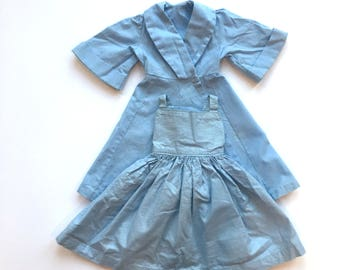 Terri Lee Doll Dress and Tagged Formal Coat in Light Blue