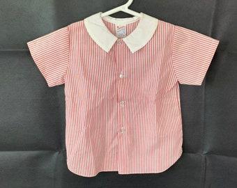 Vintage Baby boy shirt size L 12-18 mos, Imp Originals Inc, old store stock, 1980s, photo, Baptim, blessing, Christening, wedding